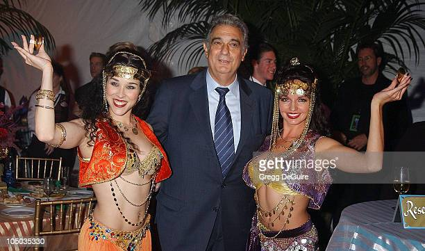 Placido Domingo with harem dancers Lisa Kouchak and Yvette Tucker