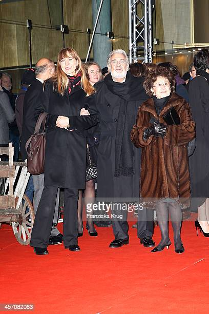 Placido Domingo with his wife Marta Ornelas and guest attend 'The Physician' German Premiere on December 16 2013 in Berlin Germany