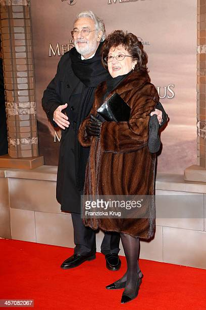 Placido Domingo with his wife Marta Ornelas attend 'The Physician' German Premiere on December 16 2013 in Berlin Germany