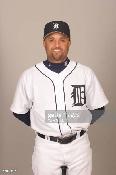 Placido Polanco of the Detroit Tigers during photo day at Marchant Stadium on February 26 2006 in Lakeland Florida
