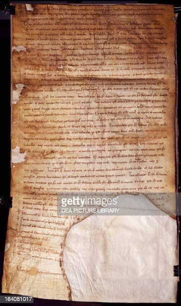 Placito Feretrano eleventhcentury manuscript copy of an original document from 885 65x36 cm San Marino Archivio Di Stato