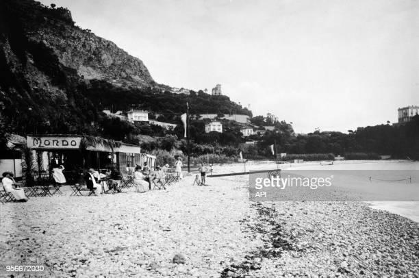 Plage dans les années 1920 à Monaco