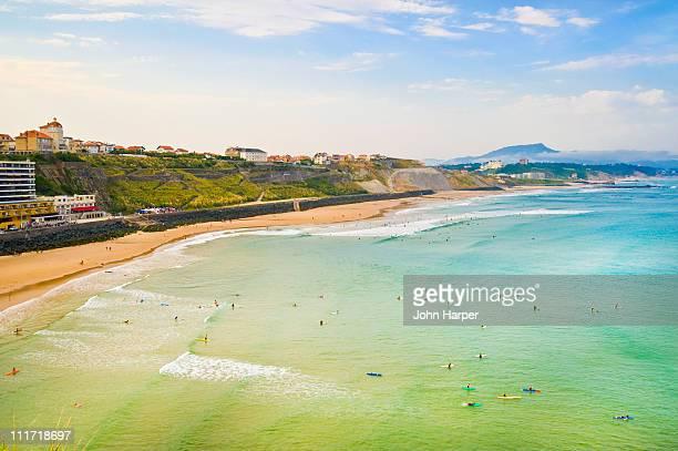 Plage de la Cote des basques, Biarritz, Aquitaine,