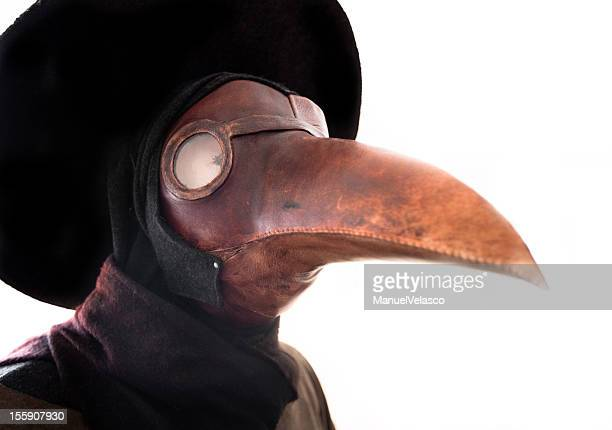 plage doctor mask - plague stock photos and pictures