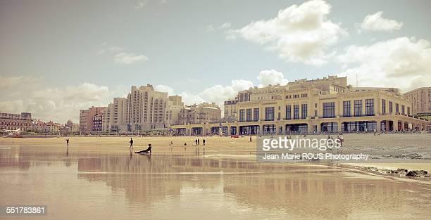 plage du casino biarritz - biarritz stock pictures, royalty-free photos & images