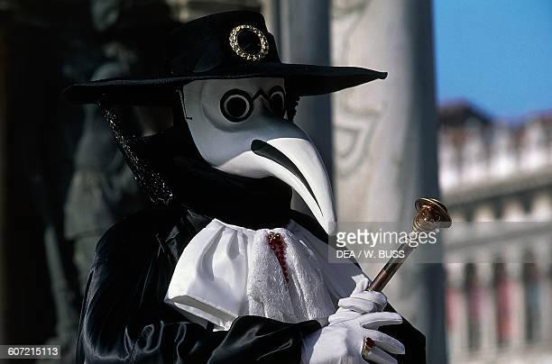Plague doctor costume Venice carnival Veneto Italy