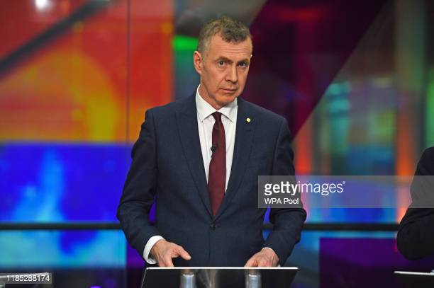 Plaid Cymru leader Adam Price before the start of the Channel 4 News' General Election climate debate at ITN Studios in Holborn on November 28 2019...