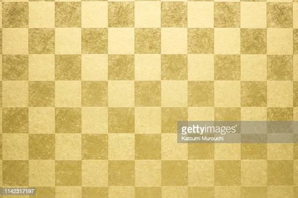 plaid gold paper texture background - タータンチェック ストックフォトと画像