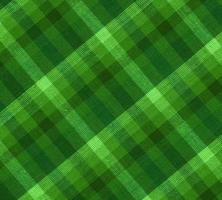 plaid green fabric 173911693