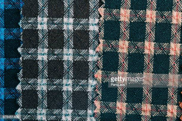 plaid pattern detail texture of cloth material
