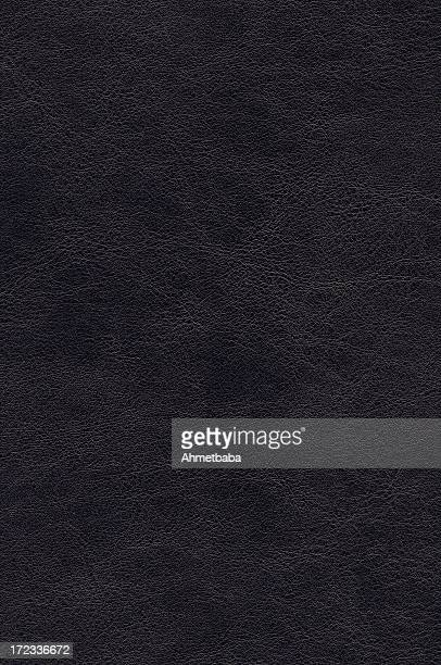 Plain black leather background