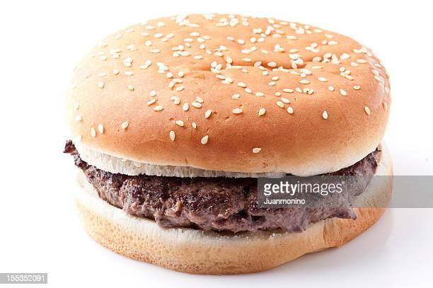 plain hamburger - plain stock photos and pictures
