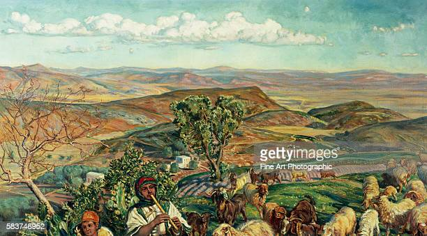 Plain of Esdraelon from Heights Above Nazareth Israel by William Holman Hunt