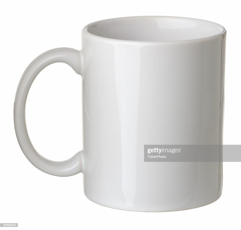 Plain White Coffee Mug Isolated On Background Stock Photo
