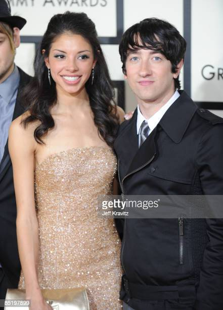 Plain White T's and Delilah DiCrescenzo who inspired the song Hey There Delilah arrives to the 50th Annual GRAMMY Awards at the Staples Center on...