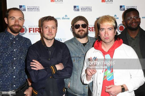 Plain White T's attend the California Fire Foundation's 5th Annual Gala at Avalon on March 28 2018 in Hollywood California