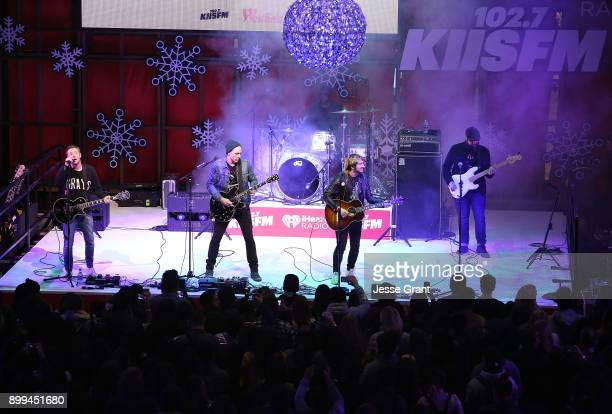 Plain White T's perform onstage during the 'Live at the Atrium' Holiday Concert Series in Partnership with KIISFM Presented by Westfield Century City...
