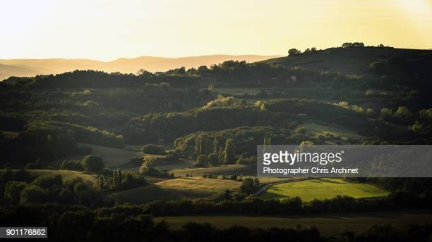 plains of grass - rhone alpes stock photos and pictures