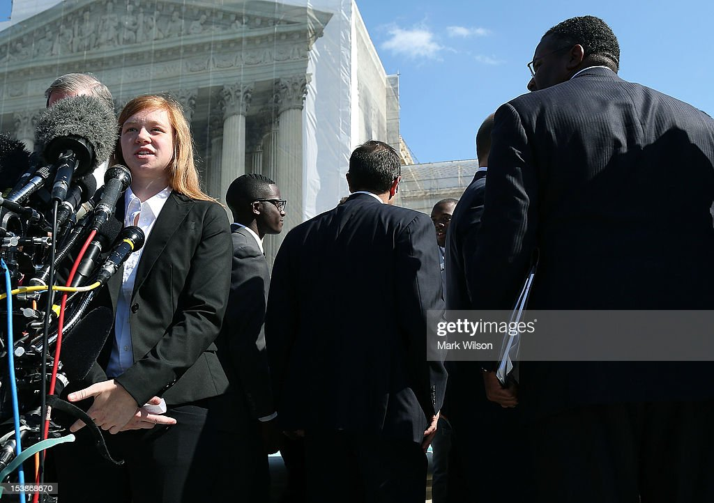 The Supreme Court Hears Hears Affirmative Action Case Regarding Admissions To Texas University : News Photo