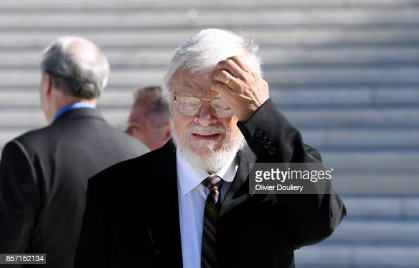 Plaintiff Bill Whitford walks outside of The United States Supreme Court after an oral arguments in Gill v Whitford to call for an end to partisan...