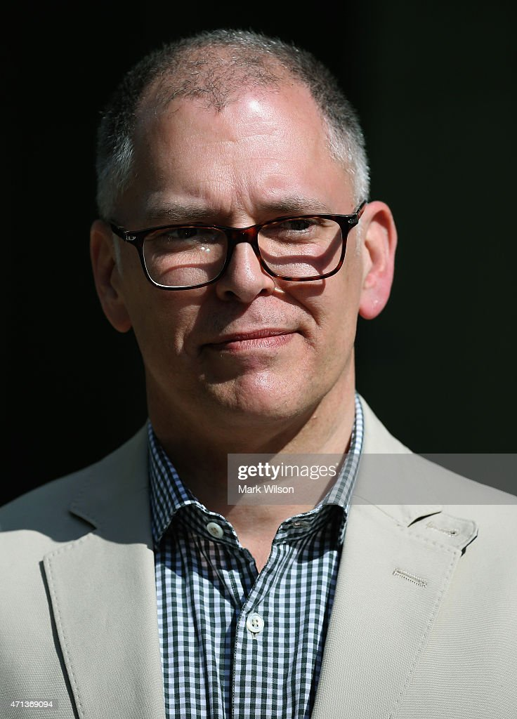 Plaintiff James Obergefell speaks about his case before tomorrow's arguments at the US Supreme Court April 27, 2015 in Washington, DC. Tomorrow the high court is scheduled to hear arguments in the case of Obergefell v. Hodges, that will ultimately decide whether states will still be allowed to ban same sex marriage and refuse to recognize the rights of couples married in other states.