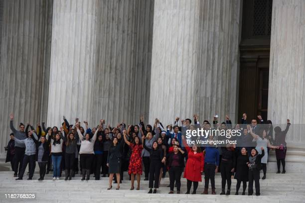 DACA plaintiffs leave the United States Supreme Court where the Court is hearing arguments on Deferred Action for Childhood Arrivals DACA that could...