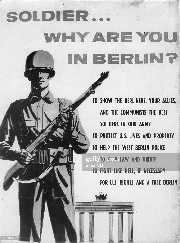USA Besatzung Berlin : Nachrichtenfoto