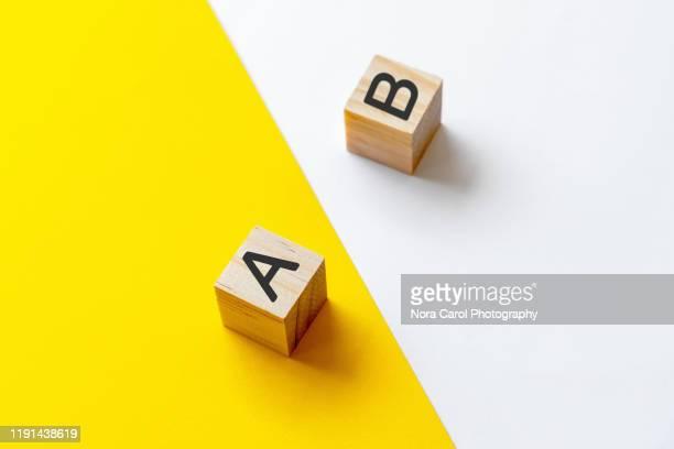 plan a and b - vergleich stock-fotos und bilder