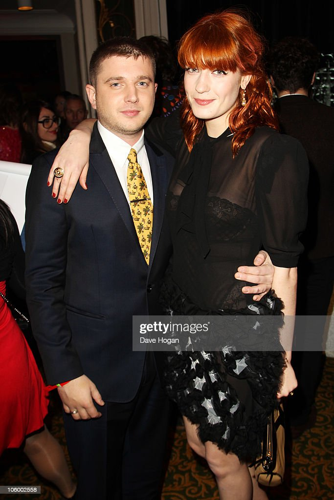Plan B and Florence Welch arrive at the Q Awards 2010 held at The Grosvenor House Hotel on October 25, 2010 in London, England.