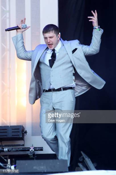 Plan B performs at the Glastonbury Festival at Worthy Farm, Pilton on June 26, 2011 in Glastonbury, England. The festival, which started in 1970 when...