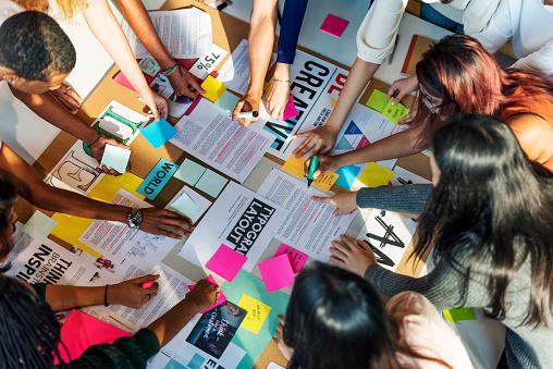Plan Creative Class Library Student Teacher Ideas Concept 665394574