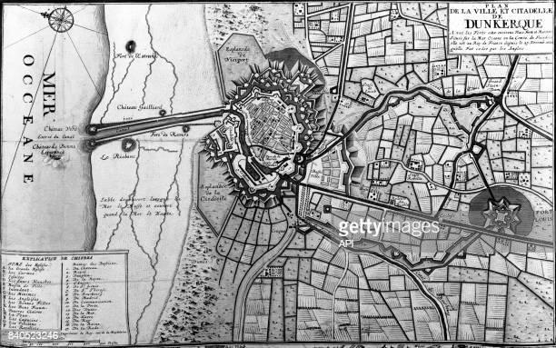 Plan de la ville et de la citadelle de Dunkerque France