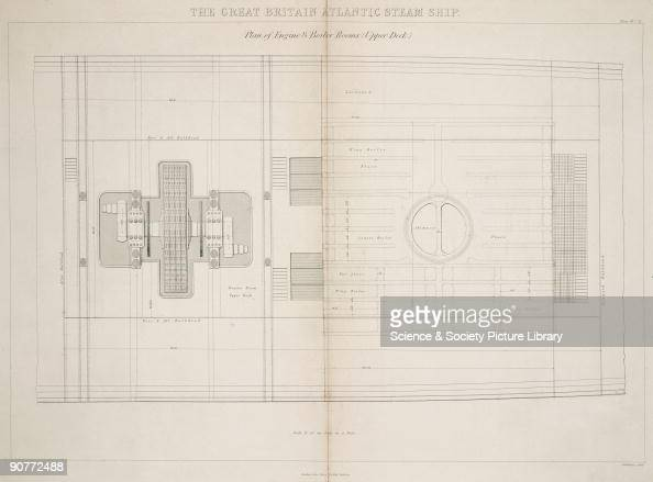 plan of engine and boiler rooms   the ss 'great britain' was the    news  photo - getty images