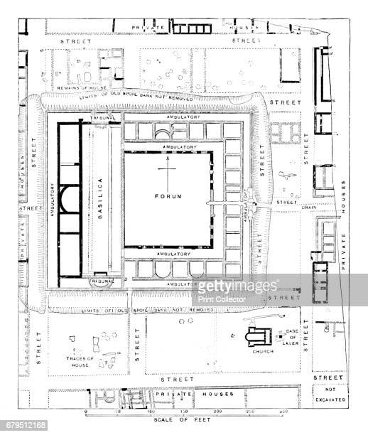Plan of Forum Silchester' 1902 Calleva formally Calleva Atrebatum was an Iron Age oppidum and subsequently a town in the Roman province of Britannia...