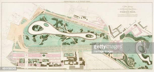 Plan of St James's Park Westminster London 1710