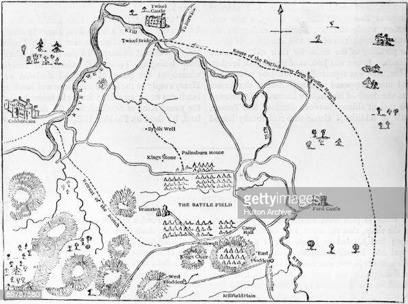 Ford X Plan Pricing >> A plan of the Battle of Flodden Field in Northumberland ...