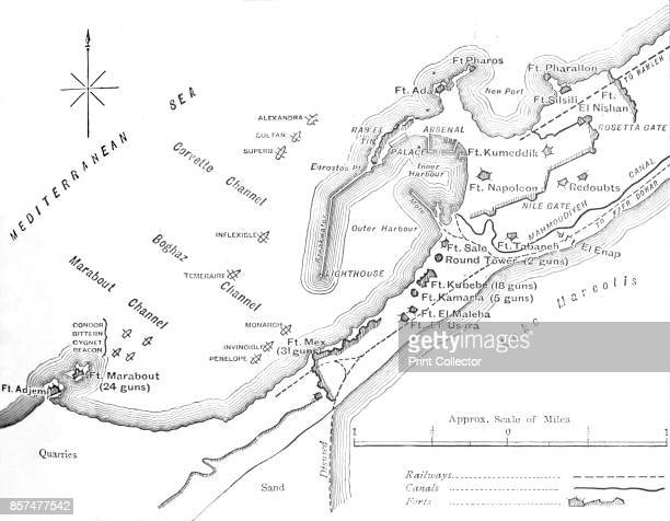 Plan of the Bombardment of Alexandria ' circa 1882 Episode of the AngloEgyptian War From British Battles on Land and Sea Vol IV by James Grant...