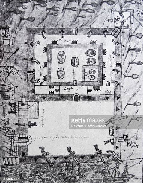 Plan of the Castillo de San Marcos the oldest masonry fort in the continental United States
