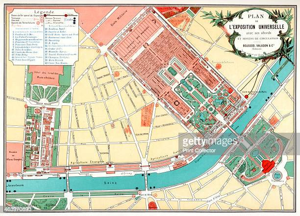 Plan of the Universal Exposition Paris 1889 The Exposition Universelle of 1889 was staged in commemration of the centenary of the French Revolution...