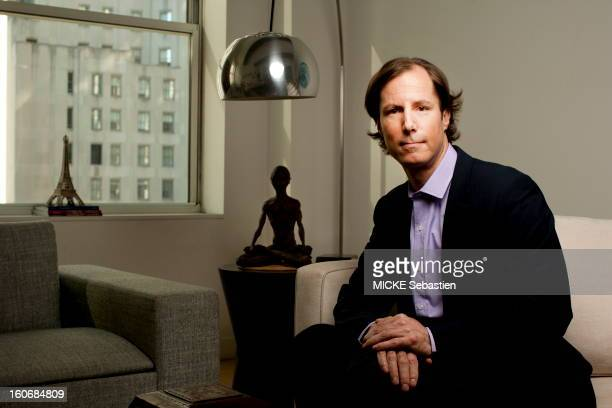 Plan smiling face MADOFF Andrew son of Bernard MADOFF posing sitting in the apartment of a friend NEW YORK facing Wall Street He told his truth and...