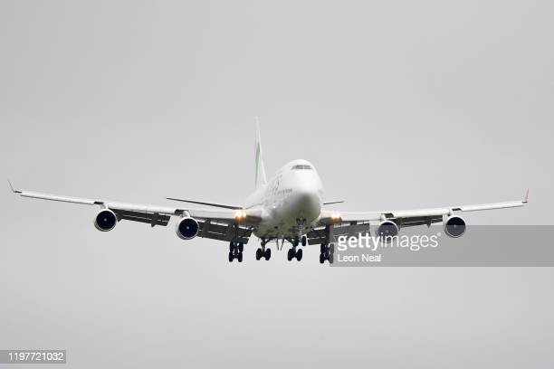 A plane carrying eightythree Britons and 27 foreign nationals who were trapped in Wuhan following a Coronavirus outbreak lands at RAF Brize Norton...