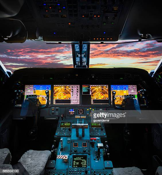 plane cockpit - cockpit stock pictures, royalty-free photos & images