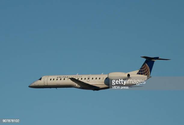 A plane departs from the Newark airport on January 18 2018 in Newark New Jersey NASA researchers said that 2017 was the secondwarmest year on record...