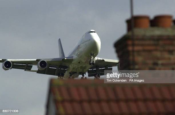 A plane flies over houses on the Heathrow Airport flightpath Campaigners were today celebrating a key victory in the European Court of Human Rights...