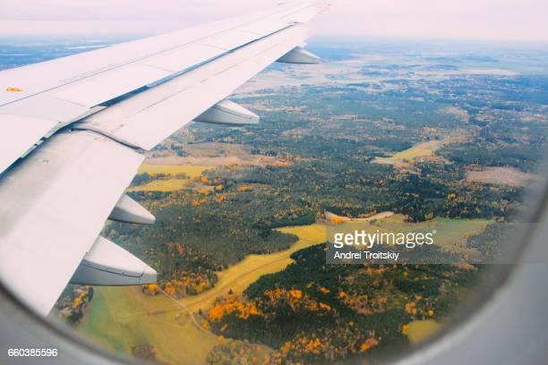 Plane is boarding at Arlanda Airport of Stockholm, Sweden