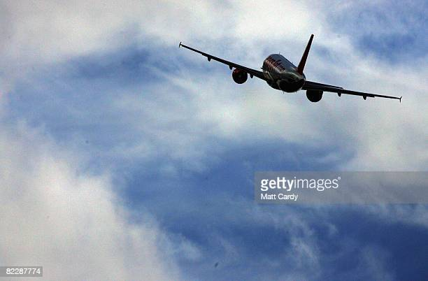 A plane leaves from Bristol airport on August 13 2008 in Bristol England The chain of travel agents Thomas Cook has reported robust bookings for this...