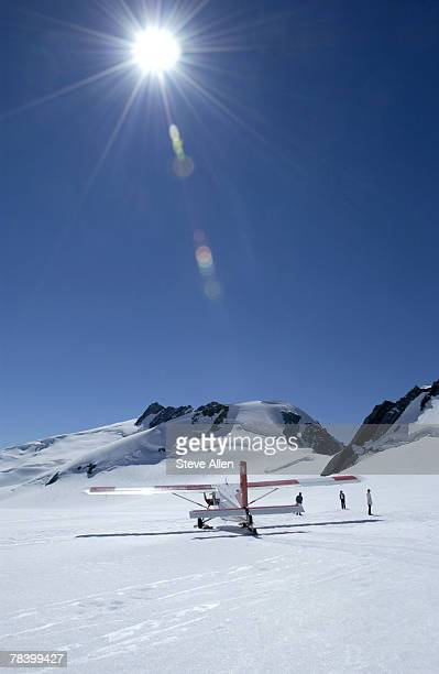 Plane on Mount Cook, New Zealand