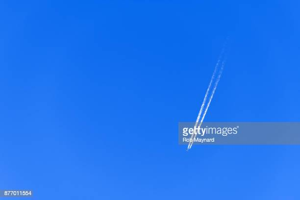 Plane on the blue sky