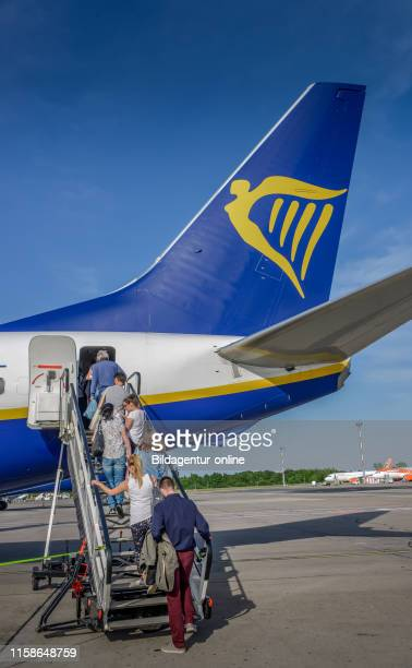 plane Ryanair airport Schoenefeld Brandenburg Germany