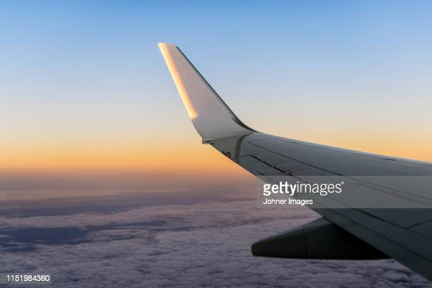 plane wing - aerospace stock pictures, royalty-free photos & images